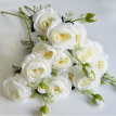Artificial Camellia Flower 3 Head Plant Fake Photographic Prop Wedding Decor