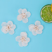 Greensen 4pcs Camellia Flower Patch Handmade Sewing Sticker DIY Shoes Bags Clothing Accessories