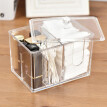 Acrylic Cotton Swabs Storage Holder Box Cotton Pads Containers Transparent Makeup Case Cosmetic Organizer