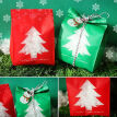 New Hot 50pcs Christmas Tree Biscuit Bags Red Green with Window Year Gift Packaging Decor Favors Candy Bag Xmas Decorations
