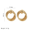 European and American style Earrings for Woman 2019 Exaggeration Big Four Layers Ring Earrings Gold color Fashion Jewellery Gift