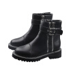 Handsome locomotive Martin boots autumn European and American fashion retro belt buckle British style boots