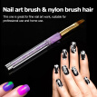Anself 1pc Nail Art Pen UV Gel Painting Brush 3D Tips Design Tools
