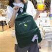 INSF Nylon Bookbag Female Korean Version High School Tea Green Student Chao Brand Backpack Shoulder Bag Middle School Student