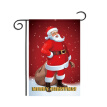 2020 Christmas Series Garden Flag Cartoon Printed Decorative Hanging Banner For Outdoor Yard Lawn Patio Porch Decor New Year