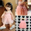 Toddler Girls Kids Princess Summer Ruffle Bubble Party Tutu Dress Size 1-6Y