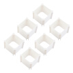 Greensen 6Pcs Plastic Closet Drawer Divicers Socks Underwear Organizer Multi-use Decorative Storage Box