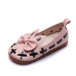 1-5Y Leather Girls Shoes Bowknot Party Shoes Sweet Baby Princess Shoes Kids Children Flats Dress Dance Shoe