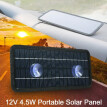 12V 4.5W Portable Solar Panel Power Car Boat Battery Charger Backup Outdoor