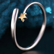 Fashion Exquisite 1pc Gold Pentagram Decor Finger Ring Charm Jewelry