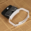 TH9203 Headband Magnifier Glasses LED Magnifying Head Mount Magnifier Interchangeable Loupe 5 Replaceable Lenses 1.0X/1.5X/2.0X/2.