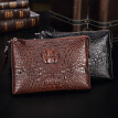 Crocodile leather envelope bag Business men's real crocodile clutch bag youth leather casual handbag generation