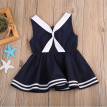 Baby Girls Navy Blue Sailor Style Dress Casual Princesss Party Pageant Dresses
