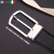 Leather men's stainless steel pin buckle belt leather casual business Italy imported first layer leather belt men