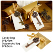50Pcs/Set Wedding Bottle Opener Keychain with Paper Tag Candy Bag Gifts Bag Wedding Favors Party Decoration