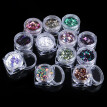 (Toponeto) 12 Color/Set Three Dimensional Diamond Nail Art Decoration
