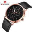 NAVIFORCE NF3001 Men Watch Brand Sport Quartz Watches Hour Date Day Pointer Luminous Military Army Business Leather Wrist Watch