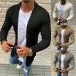 Mens Knitted Cardigan Long Sleeve Casual Slim Fit Sweater Jacket Coat Tops