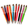 Creatway Fashion Diamond Ballpoint Pens Stationery 2 in 1 Crystal Stylus Pen Touch Screen Pen Multi-color (10pcs)