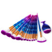 〖Follure〗13Pcs Diamond Makeup Brush Set Dazzle Glitter Big Fish Tail Foundation Brushs