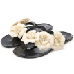 Women Summer Slippers Candy Color Female Fashion Flip Flop Flats Shoes With Beautiful Camellia Flower Sweet Beach Sandals