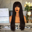 nomeni Fashion Synthetic Long  Black  Straight Natural Hair Full Wigs For Women