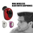 Mini Wireless Bluetooth Stereo Multipoint Connection Earphones In Ear Earpiece Invisible Headset Handsfree Magnet USB Charger