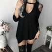 Autumn Dresses Sexy Sleeveless Deep V Off Shoulder Women Irregular Dress Party Mini Dress Short Dresses Female