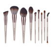 1/9pcs Luxury Champagne Gold Makeup Brushes Set Reals Professional Powder Blusher Blender Brush Tools