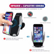 Automatic Clamping Wireless Car Charger Receiver Mount For iPhone For Android Charging Mount Bracket Multitool Camping Equipment