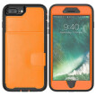 MOONCAE Apple iPhone X Three Anti-Leather Card Holder Series - Orange