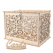 Natural DIY Gift Money Box With Lock Beautiful Decoration Supplies For Birthday Party Wooden Wedding Card Box