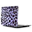 Ultra Thin Light Weight White Purple Leopard Print Pattern Laptop Hard Case Shell Cover for Apple Macbook Retina 15 15.4in