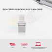 "Kingston DataTraveler microDuo 3C 64GB USB3.1 Type-C OTG Dual Flash Drive Pen Drive Memory Stick for New MacBook 12""/for 2016 MacB"