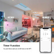 V16-C Smart WIFI LED Bulb RGB+W LED Candle Bulb 6W E26 Dimmable Light Phone Remote Control Group Control Compatible with Alexa Goo