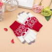 Cute Lovely Unisex Women Men Touch Screen Wool Winter Cartoon Print Cotton Casual Gloves Warm Smartphone Mobile Phone 4 Style