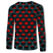 Mens 3D Print Tops Sweatshirt Round Neck Long Sleeve Casual Graphic Tee Shirts