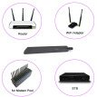 2.4GHz 18dBi WiFi Antenna Aerial w/ RP-SMA Male Connector for Wireless Router WiFi Adapter STB Modem Pool