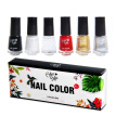 6pcs Nail Polish Set Long-Lasting Waterproof Colorful Nail Polish Kit Nail Art Product Women's Makeup Natural