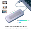 MINIX NEO 240GB SSD Storage USB C Hub Multi-Port USB 3.0 Type C HD Port for Apple MacBook MacBook Air MacBook Pro
