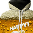 (Toponeto) Men's Casual Long Sleeve Beer Festival New Style 3D Printing Hoodies Sweatshirt