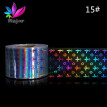 (Toponeto) 16PCS Design Nail Art Foil Stickers Transfer Decal Tips 4*20CM Manicure Decor