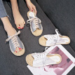 Slipper women outside summer wear Korean version of the straw line with open-toed fisherman casual a word cool slippers Roman shoe