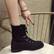 Martins boots female English wind autumn machine boots elastic fly knit socks shoes fashion handsome short boots tide