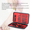 Makeup 15Pcs Stainless Steel Manicure & Pedicure Set Nail Clipper Travel & Grooming Kit with Storage Case
