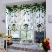 Light Filtering Fabric Fold Roman Shade Butterfly Printed Window Treatment