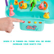 Tailored Electric Water Circulation Non-Magnetic Kitten Fishing Duck Toy Fish Pond Game
