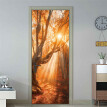 Gobestart Door Sticker Decorative Painting Bedroom Living Room TV Wall Decoration