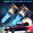 2Pcs 55W H15 Xenon White Front Light Bulb DRL HID for AUDI/BMW/Ford VW GOLF MK6 MK7