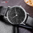 Simple Men's Watch Longfeng Waterproof Quartz Women's Leather Strap Couple Watch 80026